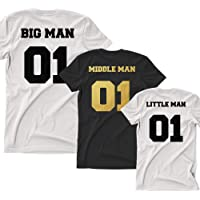 Big Man Little Man Matching Tops Fathers Day Daddy Dad Son Baby T Shirt Tee