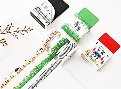6 Different printed NEW Masking tape 25 mm abt 0.98 inch