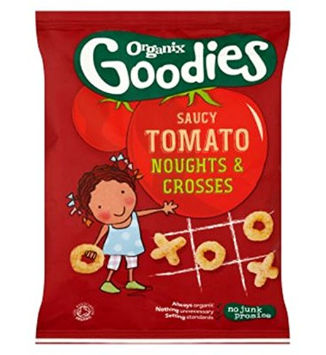 Organix Goodies Organic Saucy Tomato Noughts & Crosses For Toddlers From 12+ Months 15G - Pack of 2
