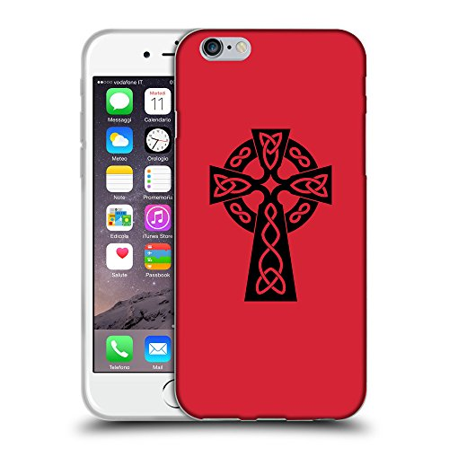 GoGoMobile Coque de Protection TPU Silicone Case pour // Q07850601 Christian Cross 10 Alizarine // Apple iPhone 6 PLUS 5.5""