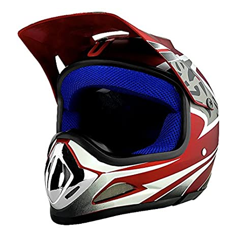 cfeef309 Image Unavailable. Image not available for. Color: Red Full Face Dirt Bike  Helmet ...