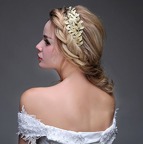 Greek / Roman Goddess Gold Leaf Crown Headpiece – Bridal Wedding Headband (Ancient Roman Accessories)