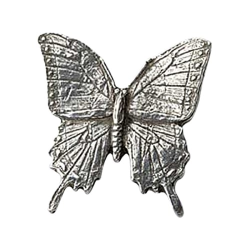 Creative Pewter Designs, Pewter Tiger Swallowtail Butterfly Lapel Pin Brooch, Antiqued Finish, A042 Butterfly Design Brooch