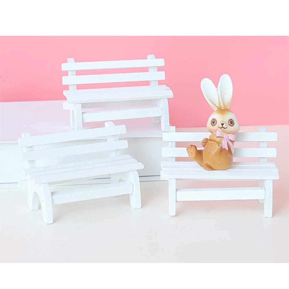 NUOBESTY Banco en Miniatura Muebles de casa de mu/ñecas en Miniatura jard/ín de Hadas Paisaje Ornamento casa Regalo Bricolaje decoraci/ón