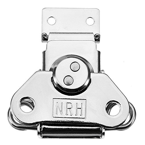 Vivona Hardware & Accessories 6331A Cold Rolled Silver Twist Draw Toggle Latch Rotary Turn with Catch Plate