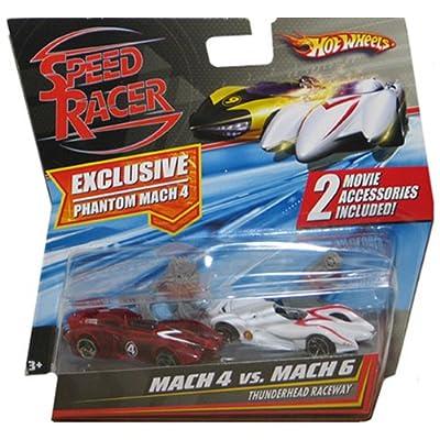 Mattel Hot Wheels Speed Racer Movie Moments - Mach 4 Vs. Mach 6 Thunderhead Raceway: Toys & Games