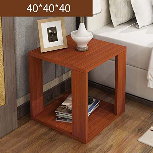 Ltm Light - LTM-MPZ Small Table Coffee Table Sofa Coffee Table Living Room Bedroom Bedside Table 404040cm (Color : Light Walnut)