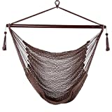 Blissun Hammock Chair, Hanging Chair, Swing Chair, 40-inch Wide Seat, Polyester Cotton (Mocha) Review