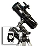 AstroVenture 4.5'' Reflector Telescope With Universal Smartphone Camera Adapter (Black)