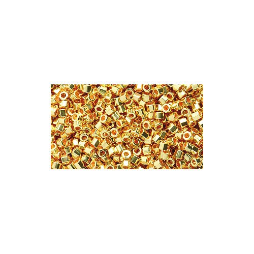Miyuki Delica Hex Seed Bead 11/0 DBC0031, 24 Karat Gold Plate, 9-Grams ()