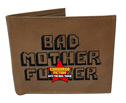 BMF Embroidered Genuine Leather Wallet Brown Authentic BMF ()