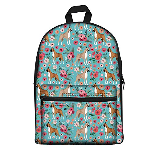 Amazon.com | Coloranimal Teens Girls Boys School Cotton Backpack Funny Classy Boston Terrier Schoolbag Mochilas Escolar Rucksack Shoulder Bags | Kids ...