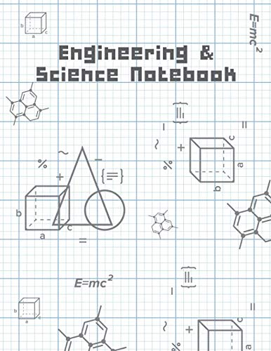Engineering & Science Notebook: Math & Science Graphing Composition Book, Grid Paper Notebook, Quad Ruled, 100 Sheets (Large, 8.5 x 11)