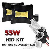 H27/880/881 LED Headlight Conversion Kit,55W HID Xenon Headlight Replacement,4300K / 5000K / 6000K/ 8000K /10000K / 12000K Xenon White, 1 Pair