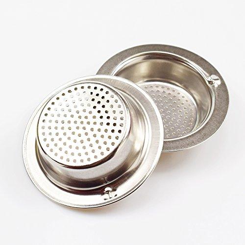 Wenkoni 2pcs Heavy Duty Good Grips Stainless Steel Kitchen Sink Strainer?Top width 4.3in?
