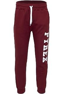 1f3d7c6e74dc9c Pyrex Pantalone Uomo Nero Basic in Felpa con Stampa 34208: Amazon.it ...