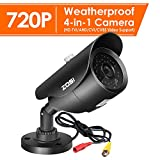 ZOSI 1.0 Megapixel HD 720P 4 in 1 TVI/CVI/AHD/CVBS Security Cameras Day Night Waterproof Camera 120ft IR Distance, Aluminum Metal Housing,Compatible for HD-TVI, AHD, CVI, and CVBS/960H Analog DVR For Sale