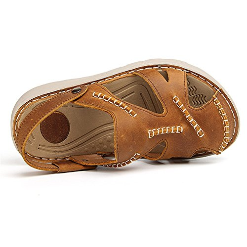 Wagsiyi Sandali 27 pantofole Traspiranti da Per E L'esterno Doppio 0 Antiscivolo Pantofole CM Tempo All'aria In Sport Libero Sandali 5 Pelle spiaggia 24 Da Giallo Uomo Aperta Scarpe AAr15Cqwn