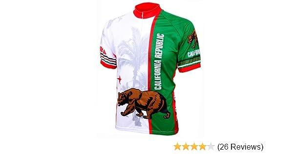 04b43c914 Amazon.com   World Jerseys Men s California Republic Cycling Jersey    Clothing