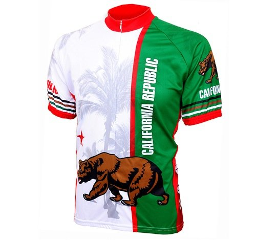 World Jerseys Men's California Republic Cycling Jersey, California Republic, Large
