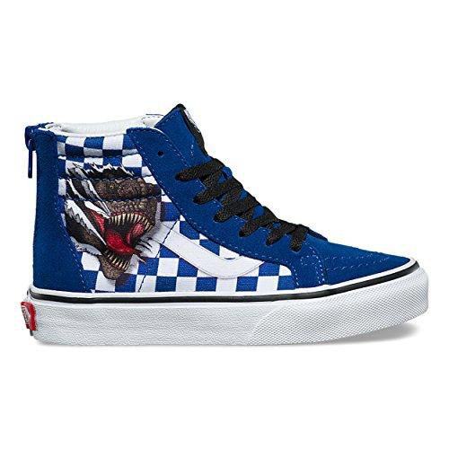 7529e275bc Vans Kids SK8-Hi Zip (Checkerboard) Dino True White VN0A3276UDX Kids Size  7  Amazon.ca  Shoes   Handbags