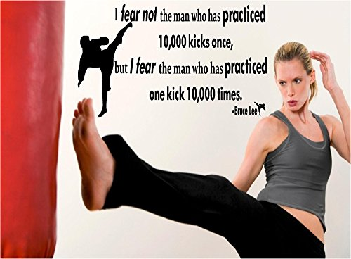 Quote It! - I Fear The Man Vinyl Wall Quote, Karate Quotes, Judo, Kick Boxing, Children's, Motivational, Vinyl Decals, Stickers, Transfers, Taekwondo