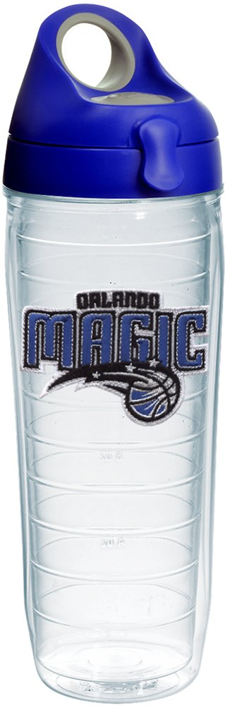 Tervis 1231064 NBA Orlando Magic Primary Logo Tumbler with Emblem and Blue with Gray Lid 24oz Water Bottle, Clear by Tervis