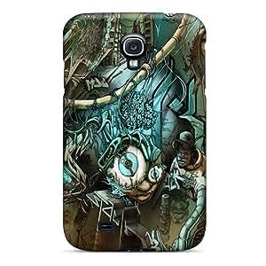 New Premium Flip Case Cover Graffiti Art Skin Case For Galaxy S4