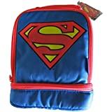 Superman Insulated Lunch Box Two Compartments