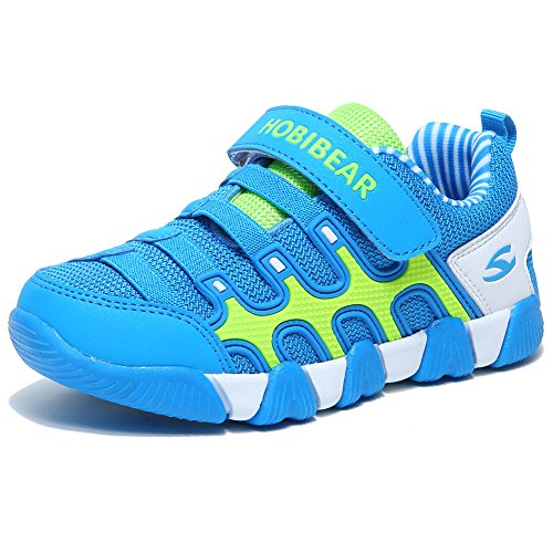 HOBIBEAR Kids Sneakers Casual Running Shoes for Boys&Girls AS3336 (Light Blue, 4M) by HOBIBEAR