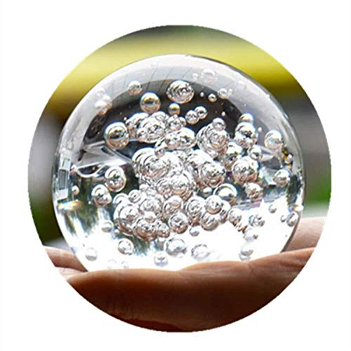 Crafts Crystal Glass Marbles Water Fountain Bubble Ball feng Shui Decorative Glass Balls Home Indoor Water Fountain Figurines (60mm) ()
