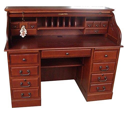 Style Roll Top Desk (54 in. Mylan Roll Top Desk in Cherry)