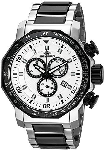 Seapro Men's SP6123 Coral Analog Display Swiss Quartz Two Tone Watch