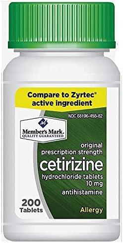 Members Mark Cetirizine Hydrochloride Antihistamine