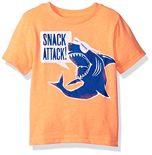 The Children's Place Baby Toddler Boys' Short Sleeve Graphic Tee, Dye Orange Splash 79981, 3T