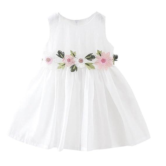 K-youth Niña Princesa Vestido, Vestidos Bebé Niña Sin mangas Vestidos Niñas Ceremonia Linda Ropa Niña Tutú Vestidos Elegante Niña Vestido de fiesta Verano ...