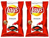 New 2013 Lay's [2 Bags] Sriracha Hot Sauce Flavored Potato Chips Limited Edition(1.875oz/ 53.1g)