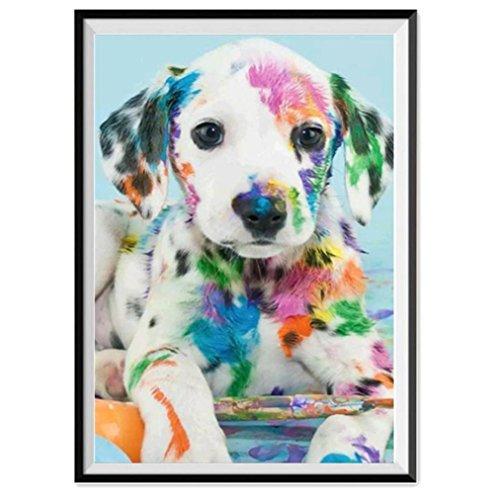 Dalmatian Embroidery (HIKO23 DIY 5D Diamond Painting Kit, Animals Embroidery Rhinestone Cross Stitch Arts Craft Supply for Home Wall Decor (30cmx40cm, Dalmatian))