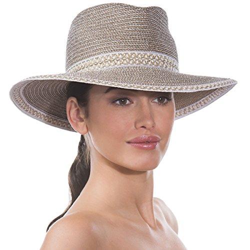 Eric Javits Luxury Fashion Designer Women's Headwear Hat - Georgia - Frost/White by Eric Javits