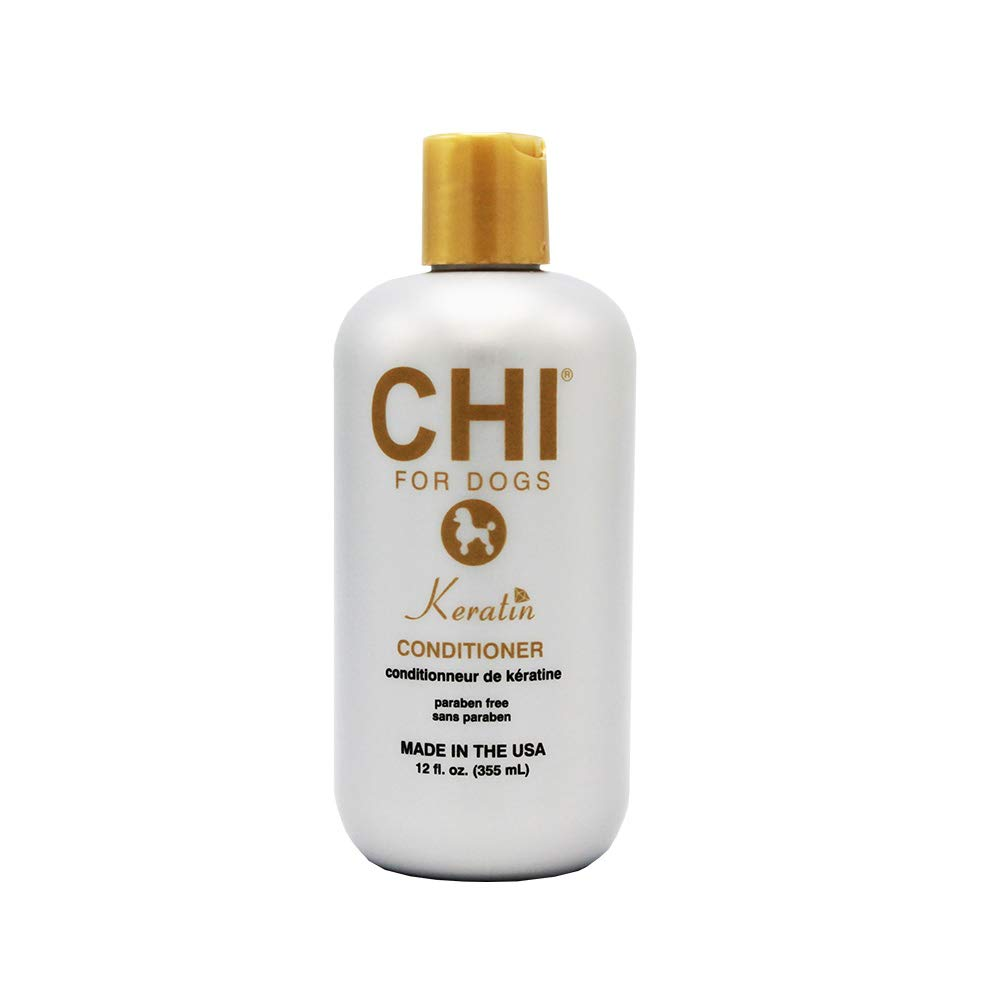 CHI for Dogs Keratin Conditioner, 12 oz   Best Keratin Conditioner for Dogs & Puppies   Sulfate & Paraben Free, pH Balanced for Dogs, Made In the USA