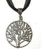 Pendentif argenté arbre de vie