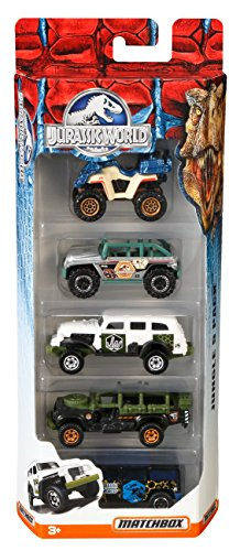 Matchbox Jurassic World 1:64 Vehicle 5-Pack (Styles May - World Four Parks