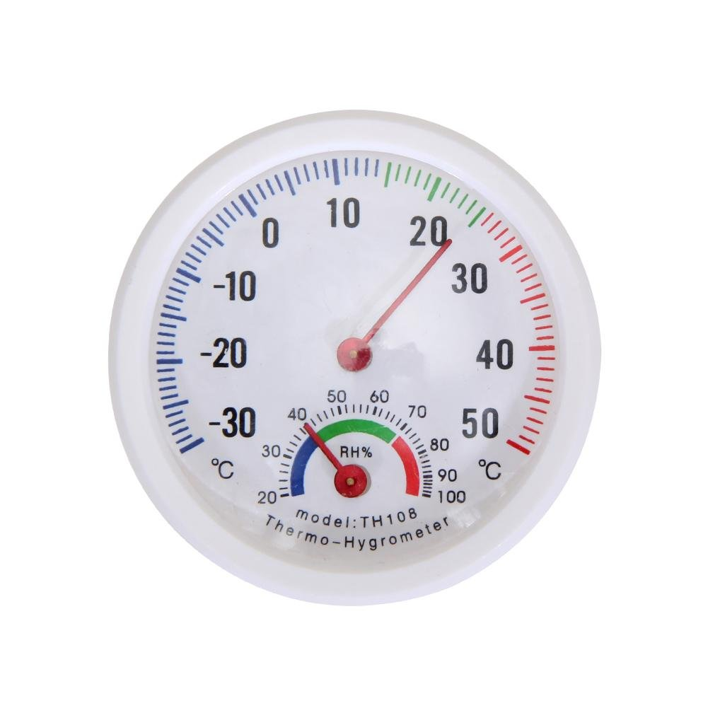 Starnearby Mini Forme de Cloche Balance Thermomètre et hygromètre pour Maison ou Bureau Indicateur d'humidité