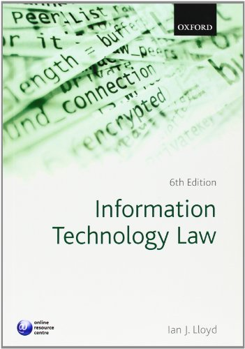 Information Technology Law, 6th Edition Front Cover