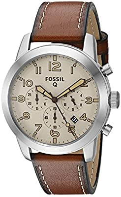 Fossil Q Pilot Brown Leather Hybrid Smartwatch