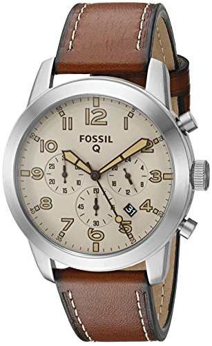 Fossil Q Pilot Gen 1 Hybrid Brown Leather Smartwatch by Fossil