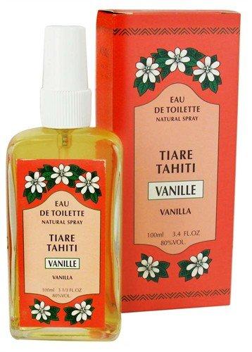 Monoi Tiare Tahiti Eau de Toilette Natural Spray Vanilla -- 3.4 fl oz