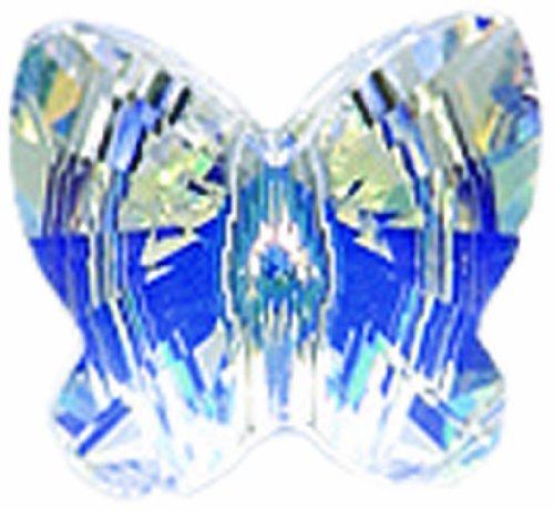 Swarovski 5754 Butterfly Beads, Aurora Borealis Finish, 10mm, Crystal, 6-Pack