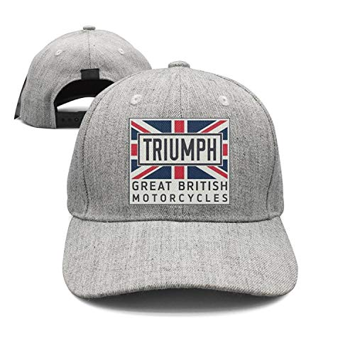 (Mens/Womens Triumph-Motorcycle-Grey Fashion Baseball hat Adjustable Snapback Cap)