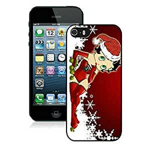 Customize Protective Case betty boop red dress Case For Ipod Touch 4 Cover phone - Black Border